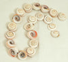 Pink Button Shell Beads BCHP107