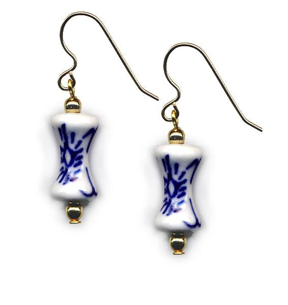 Porcelain Dumbbell Earrings
