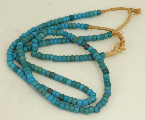 Turquoise Color Padre Bead, Glass, West Africa BA-19T
