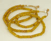 African Light Amber Glass Padre Bead  BA-P17