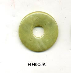 Pi Disc 40mm Olive Jade