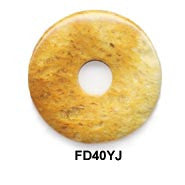 Pi Disc 40mm Yellow Jade