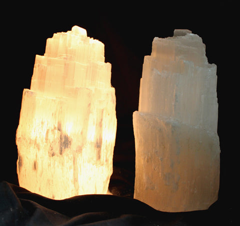 Selenite Skyscraper Lamp - Small