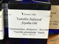 Vanilla Infused Jojoba 5oz Blue Bottle