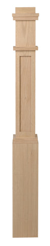 Victorian Mission Style Box Newel