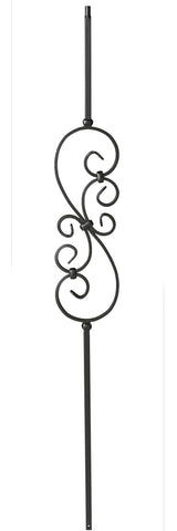 Regular Twist Iron Baluster Small Scroll