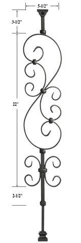 Ole Iron Slides™ S-Scroll Baluster