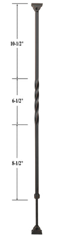Ole Iron Slides™ Kneewall Twist Baluster