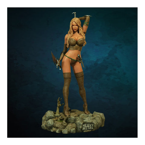 Valkyrie Warrior Girl Into the Fog Heavy Metal Limited Edition Statue