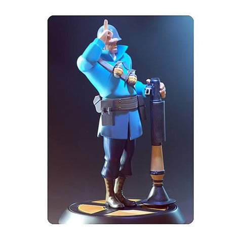 Blue Soldier Team Fortress 2 Statue