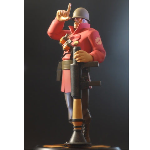 Red Soldier Team Fortress 2 Statue