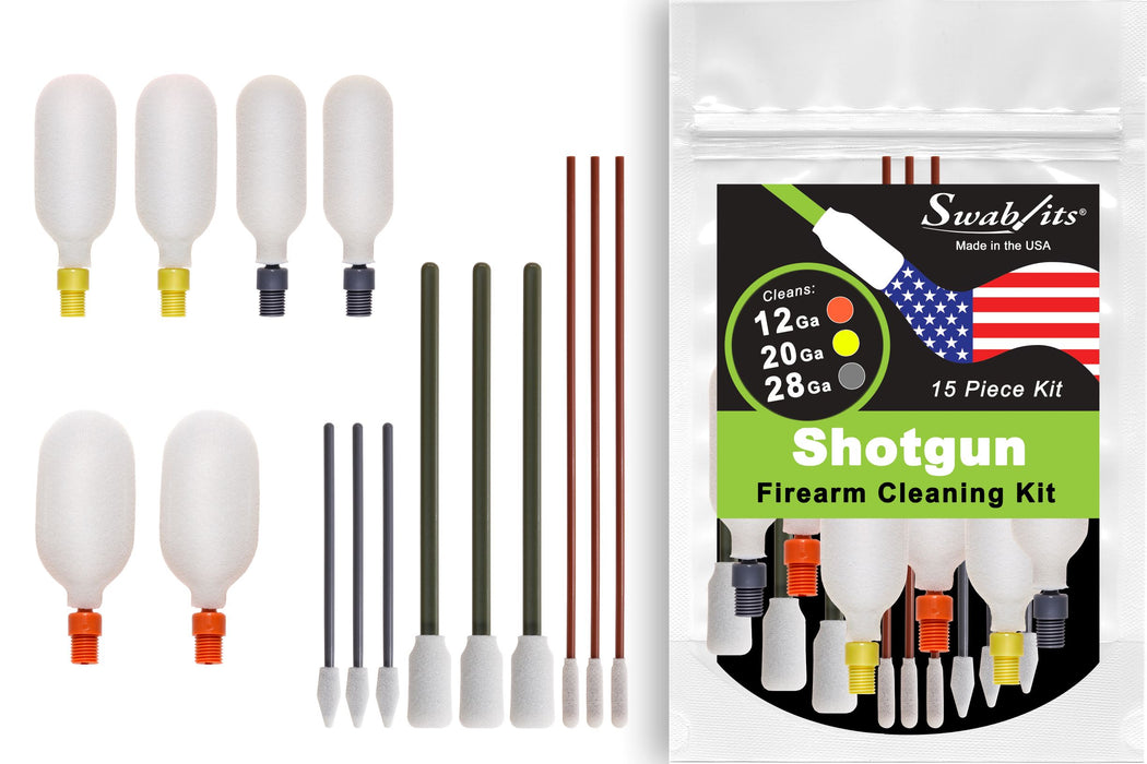 (NEW) Swab-its® 12ga/20ga/28ga Shotgun Firearm Cleaning Kit: 87-9903
