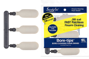 *New* 41-0050: 28 Gauge/.50cal Gun Cleaning Bore-tips® by Swab-its®