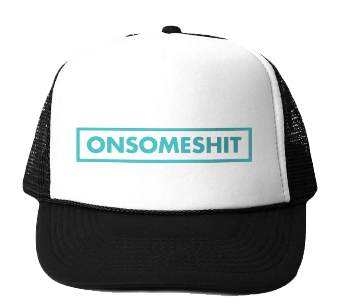 OSS BOX LOGO TRUCKER HAT - BLACK/WHITE