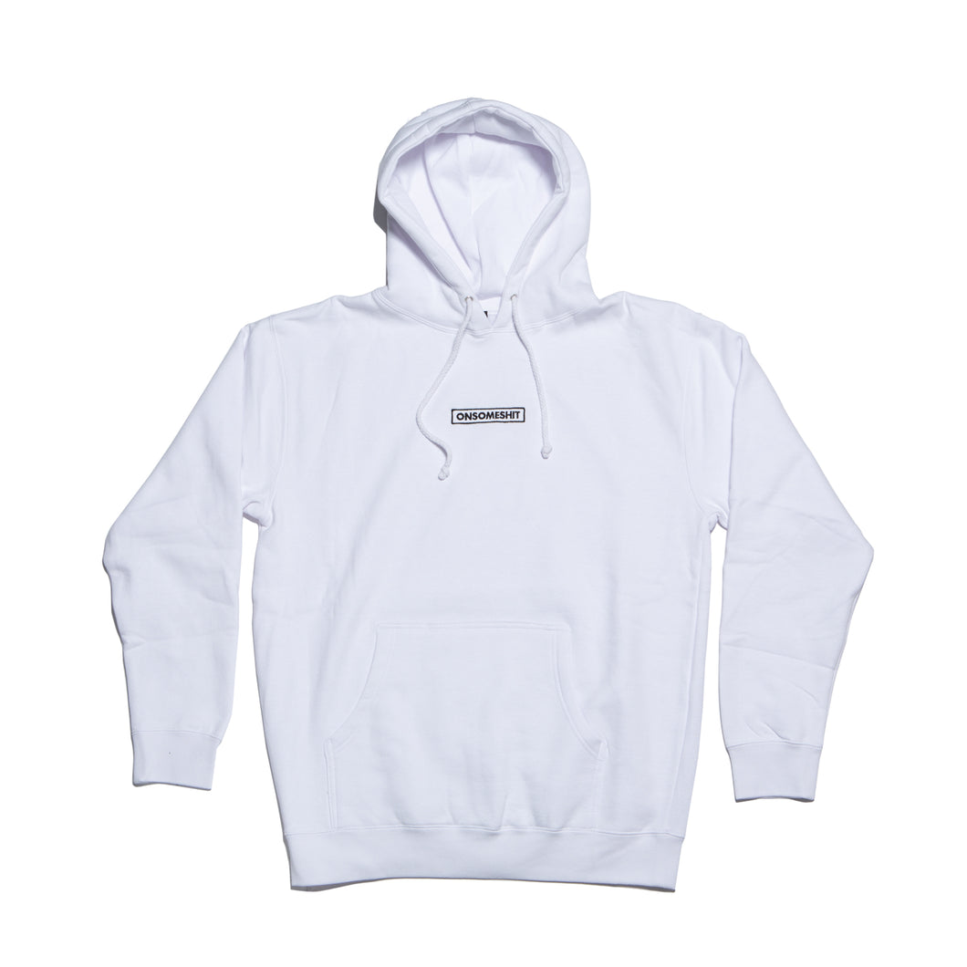 OSS Embroidered Hoodie White