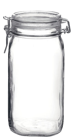 Bormioli Rocco Large Glass Fido Canning Jar - 1.5 Liter