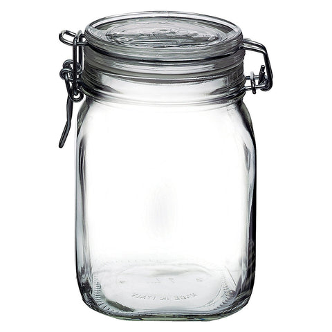 Bormioli Rocco Large Glass Fido Canning Jar - 1 Liter