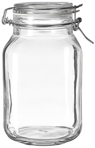 Bormioli Rocco Large Glass Fido Canning Jar - 2 Liter