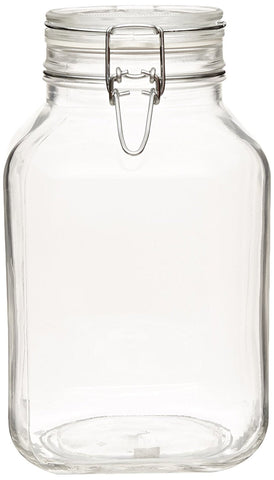Bormioli Rocco Large Glass Fido Canning Jar - 3 Liter