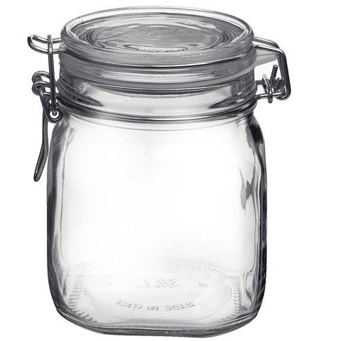 Bormioli Rocco Large Glass Fido Canning Jar - .75 Liter