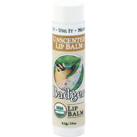 Badger Unscented Classic Lip Balm Stick 0.15oz