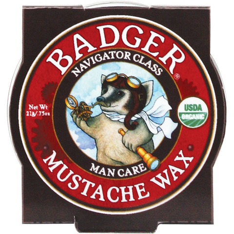 Badger Man Care Mustache Wax 0.75oz