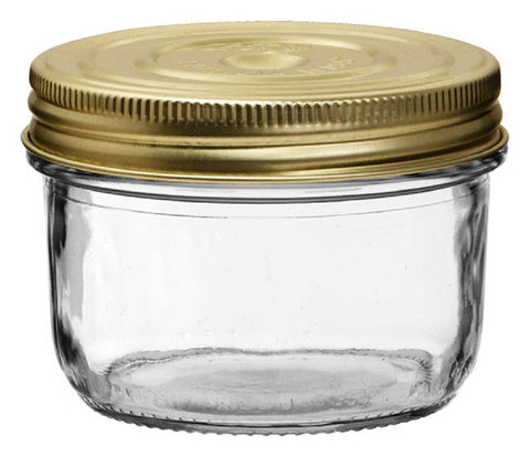 Le Parfait Glass Familia Wiss Terrine Canning Jar with Metal Lid - 350 Gram