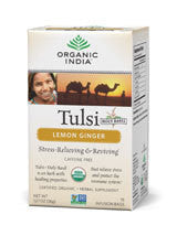 Organic India Tulsi Lemon Ginger Tea, 18 Bags