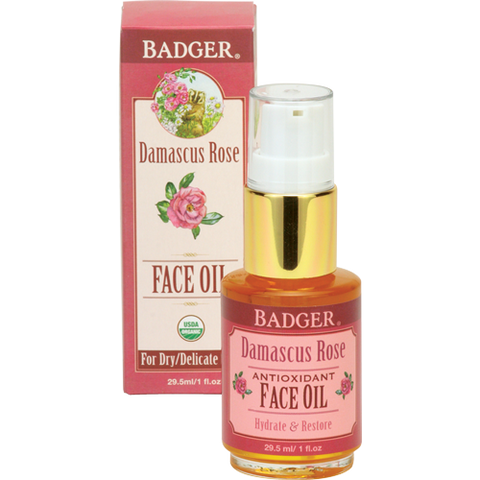 Badger Damascus Rose Face Oil 1oz