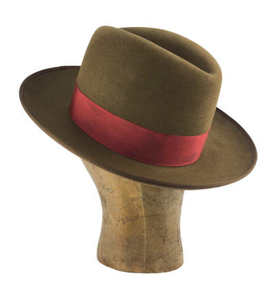 custom fedora western weight beaver blend with lambskin sweatband