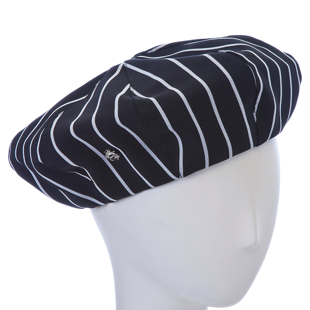 striped beret ~ black