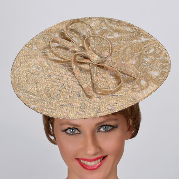 soft gold fascinator
