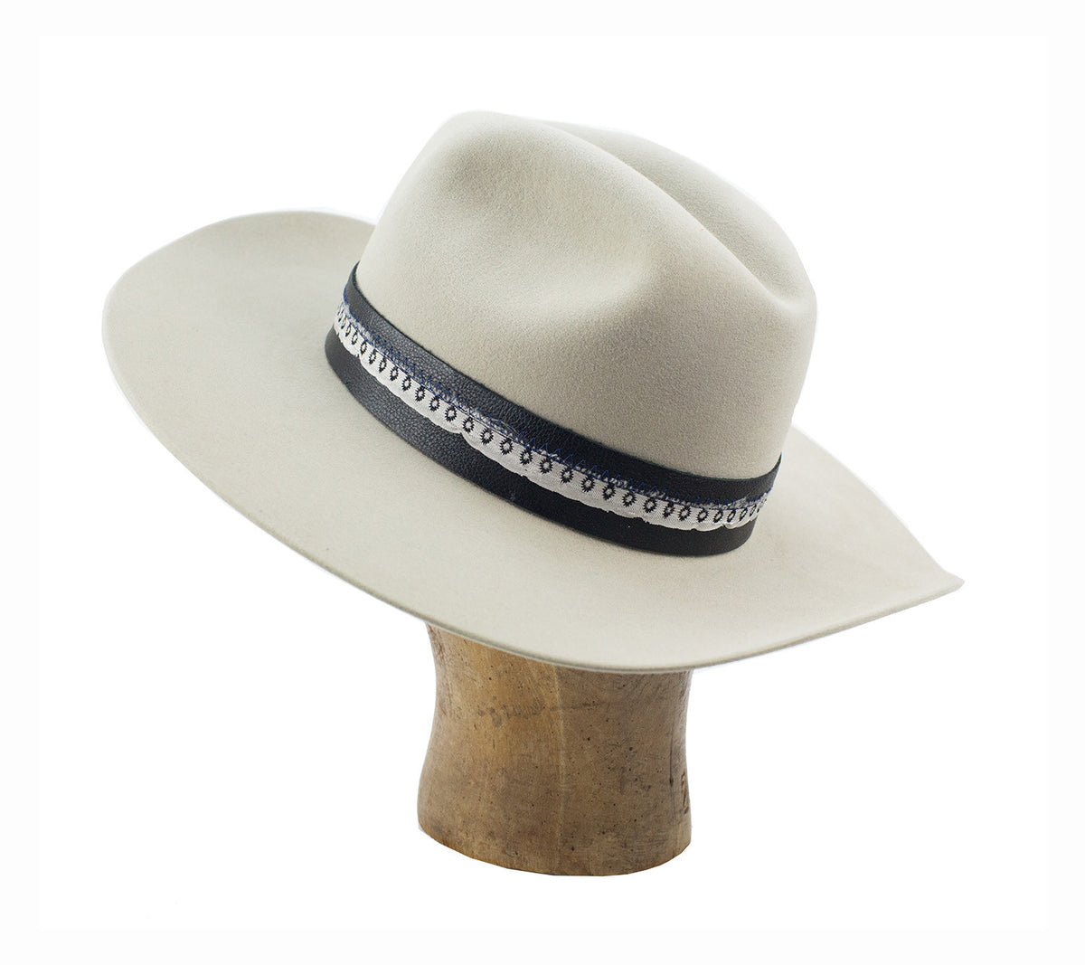 cattleman hat with cut brim