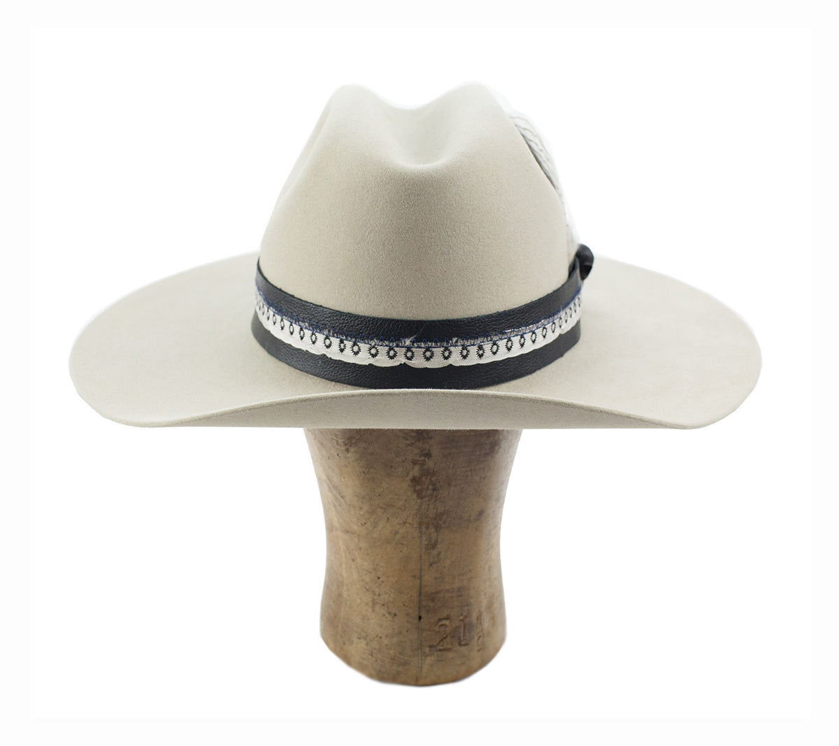 cattleman crown with a cut brim original hat by hatWRKS