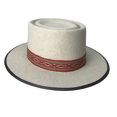 hatWRKS original with double telescope crown and bound brim with contrast stitching