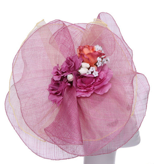 women's lavender sinamay straw fascinator by something special
