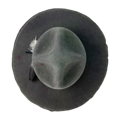 this hatWRKS orginal has an uncut flat brim measuring approx 4""