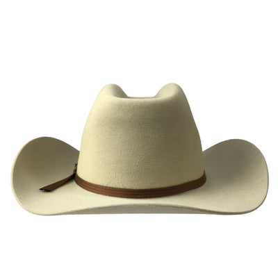 cattleman crown with cut brim