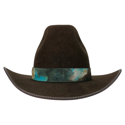 "cattleman crease crown  with 5 3/4"" height"