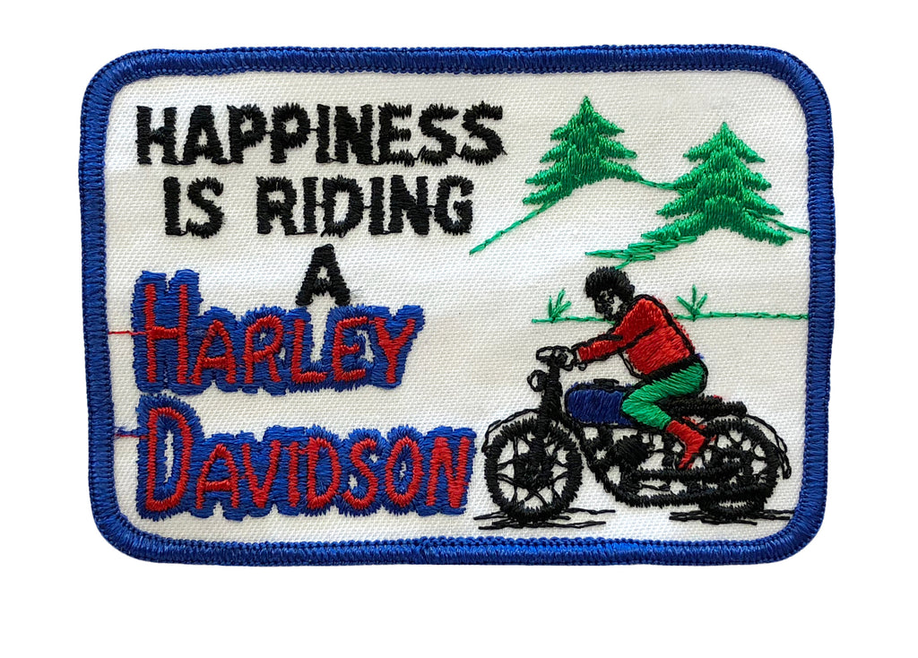 happiness is riding a harley