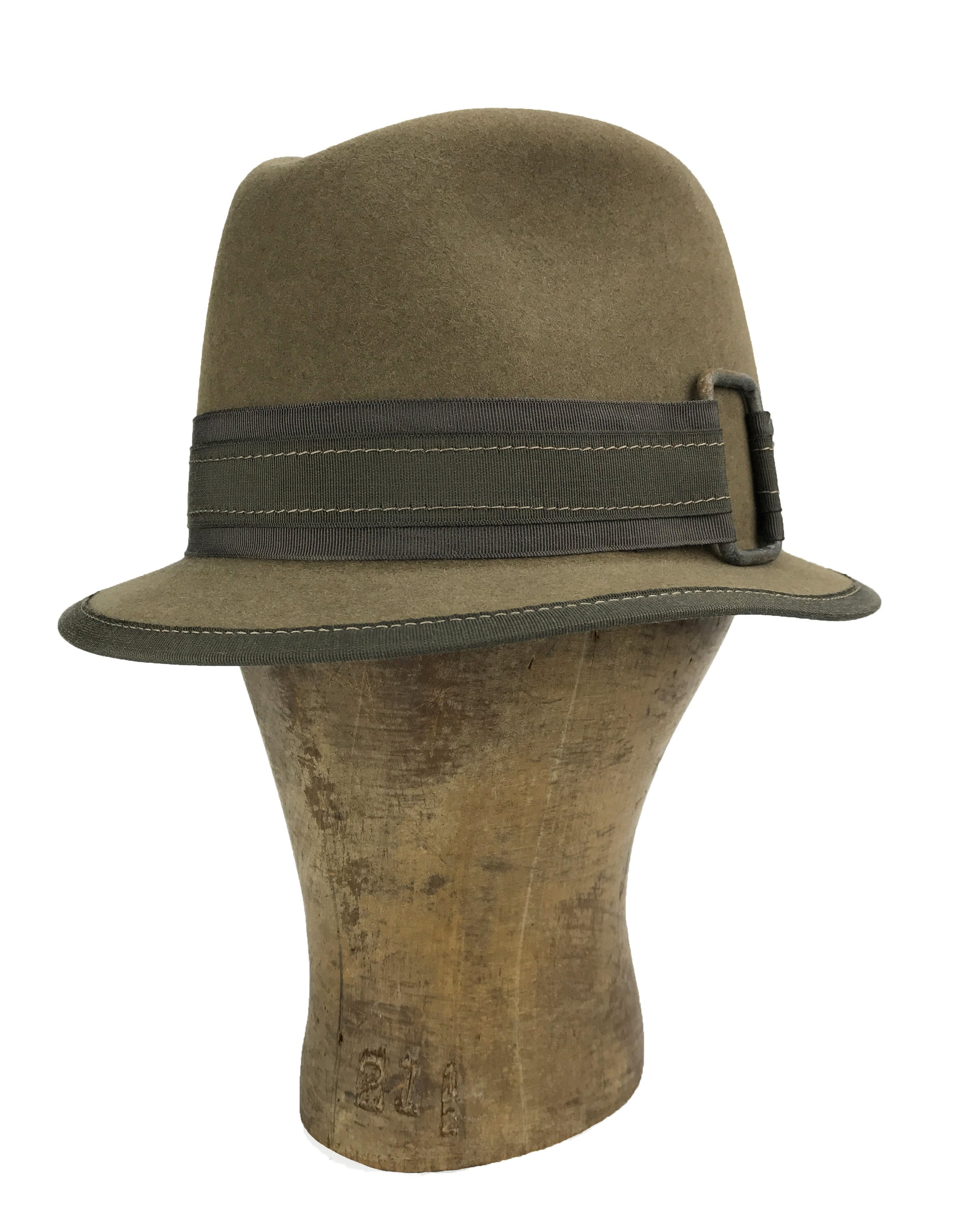 hatWRKS original buck up fedora crown