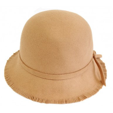 fringed cloche ~ camel