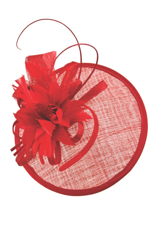 red derby fascinator