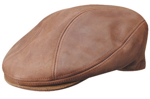 03b2c7812aeb0 distressed leather flat cap STW609 – hatWRKS