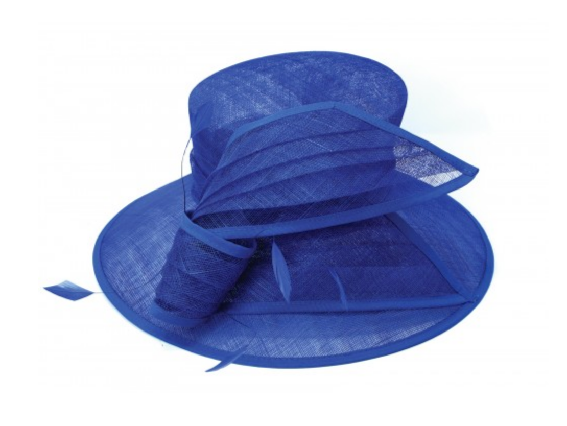 cobalt blue derby hat for women
