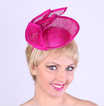 fascinator fucshia