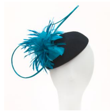 fascinator ~ black & teal