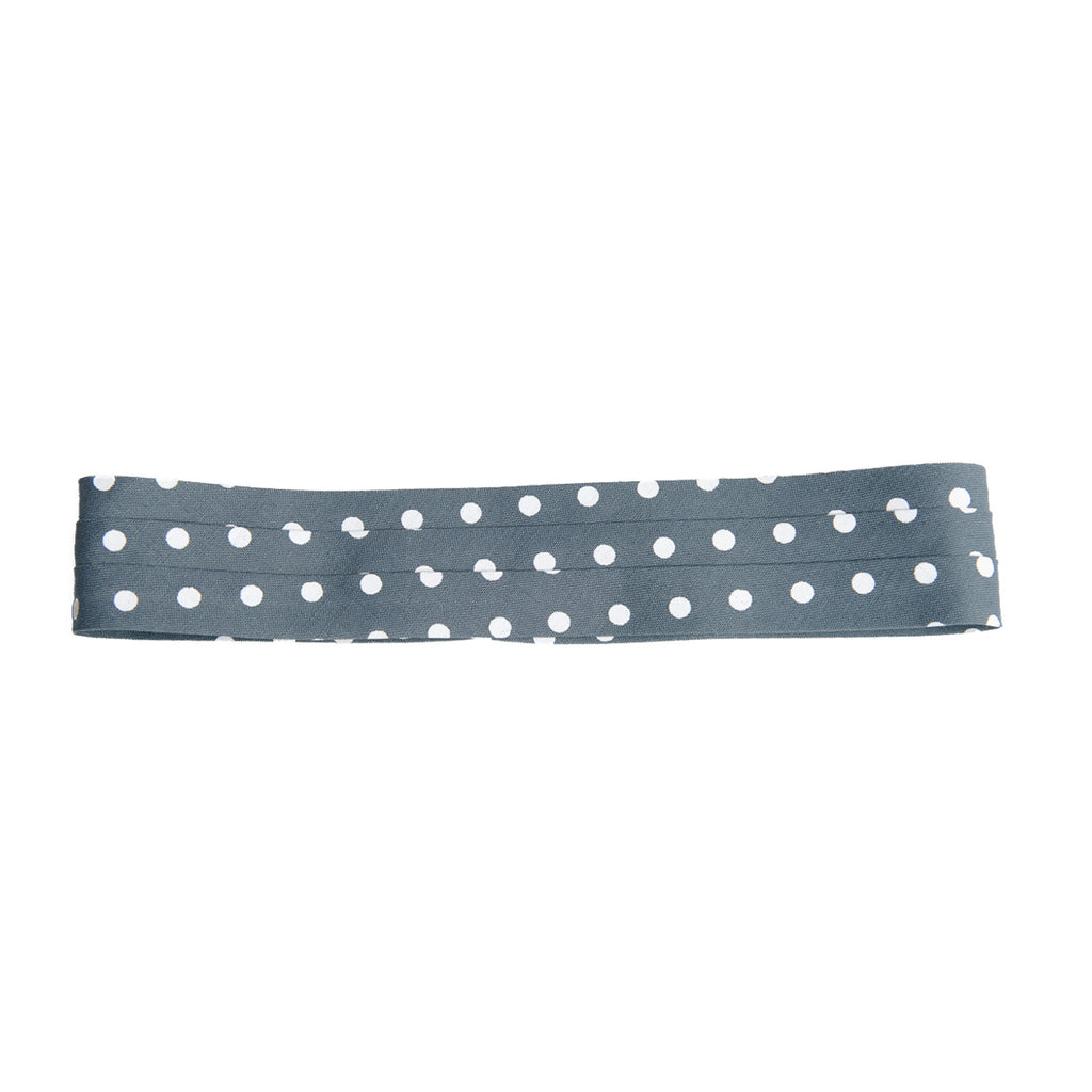 puggaree ~ polka dot ~ grey/white
