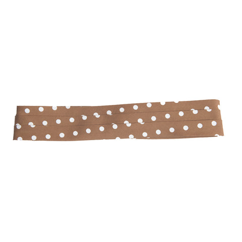 puggaree ~ polka dot ~ camel/white