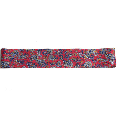 puggaree ~ 3 pleat ~ paisley red